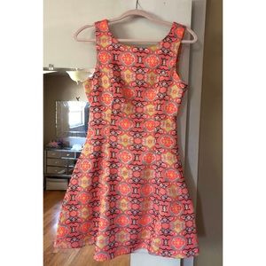 Beautiful Bright Printed Pink and Yellow Dress